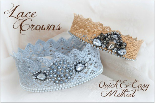 The Easiest & Quickest Way to Make Lace Crowns {Tutorial}