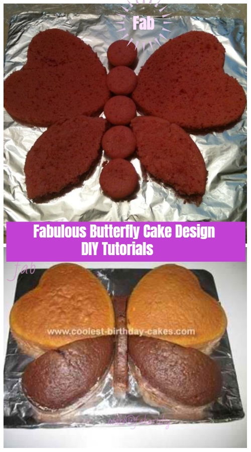 Fabulous Butterfly Cake Design DIY Tutorials - Heart Butterfly Cake DIY Tutorial