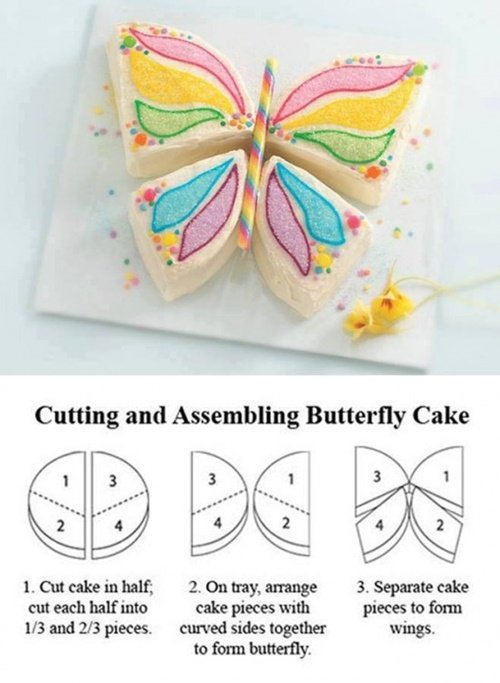 Fabulous Butterfly Cake Design from a round cake DIY Tutorial