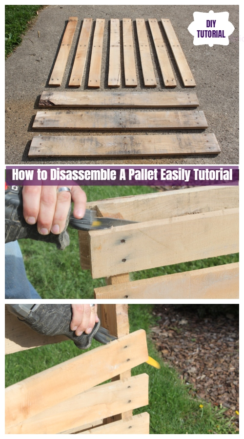 How to Disassemble A Pallet Easily Tutorial - Video