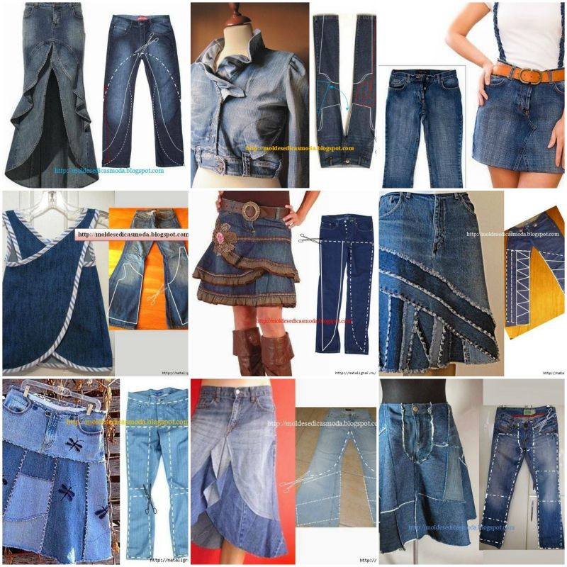 repurpose old jeans into new fashion