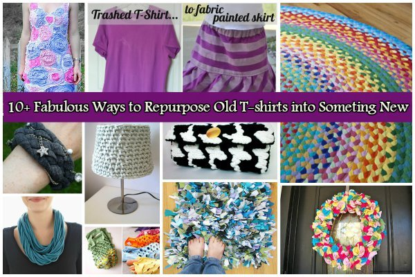 10 Fabulous Diy Ways To Recycle Old T Shirts