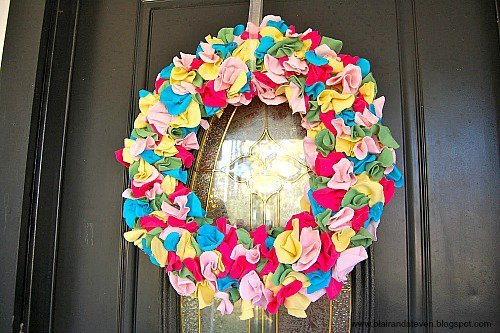 10 Fabulous DIY Ways to Recycle Old Tees - t shirt wreath tutorial