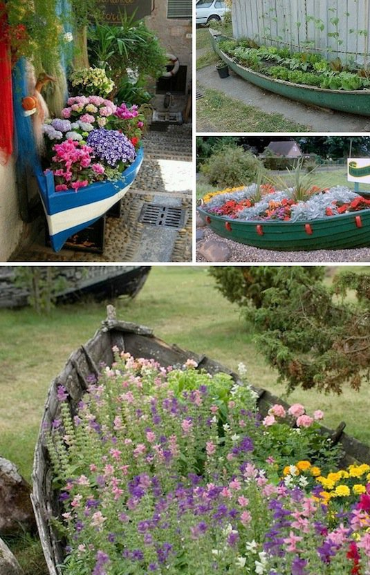 20 Fabulous Art DIY Garden Projects for This Spring - old boat planter