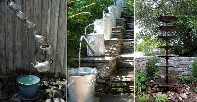 20 Fabulous Art DIY Garden Projects for This Spring - waterfalls