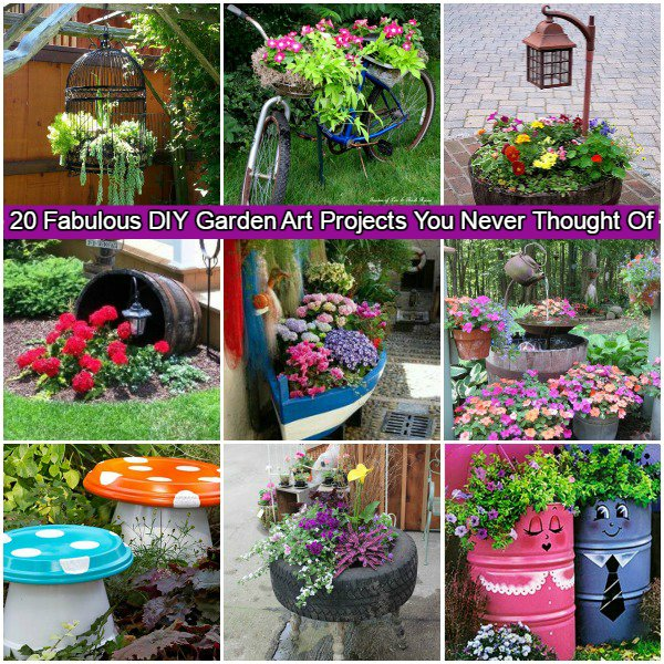 Fabulous DIY Garden Art Projects for This Spring