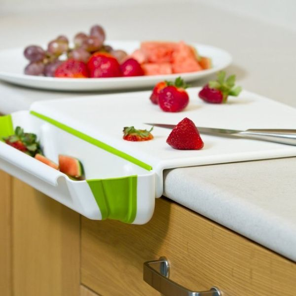 25+ Cool and Practical Kitchen Gadgets For Food Lovers -Collapsible-Bin-Cutting-Board