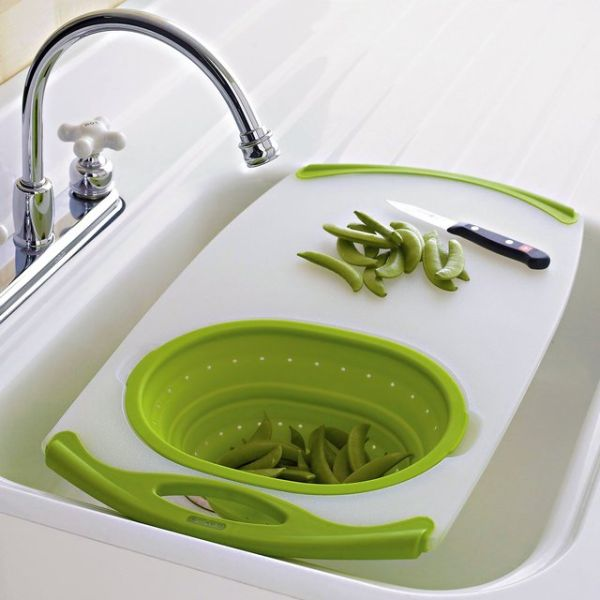 25+ Cool and Practical Kitchen Gadgets For Food Lovers -Over-the-Sink-Cutting-Board