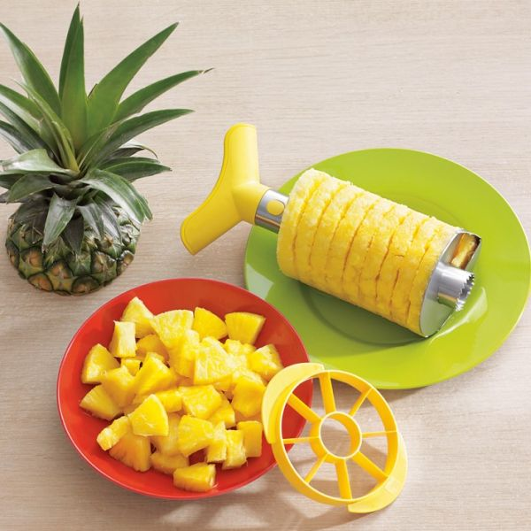 25+ Cool and Practical Kitchen Gadgets For Food Lovers -Steel-Pineapple-Slicer-Dicer