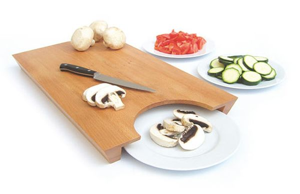 25+ Cool and Practical Kitchen Gadgets For Food Lovers.-Transfer-Cutting-Board
