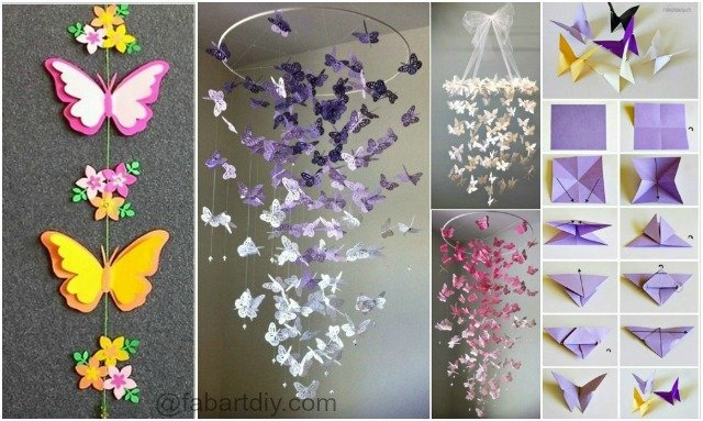 Butterfly chandelier mobile diy tutorials for Butterflies for crafts and decoration