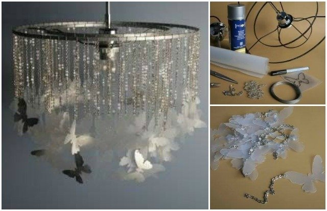 Butterfly Chandelier Mobile DIY Tutorial-DIY Plastic Jug Butterfly Mobile