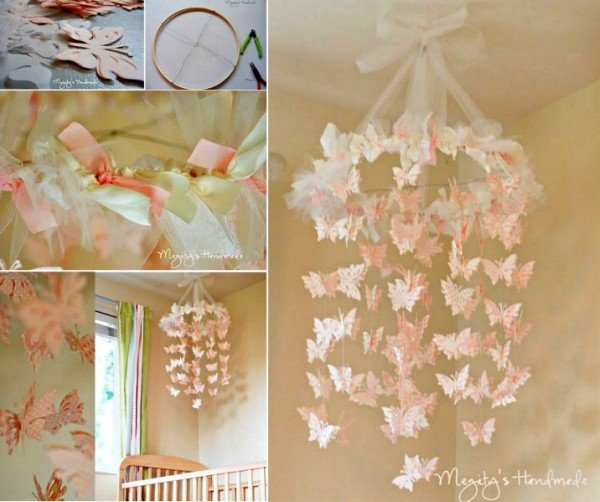 DIY Butterfly Chandelier Mobile Tutorial