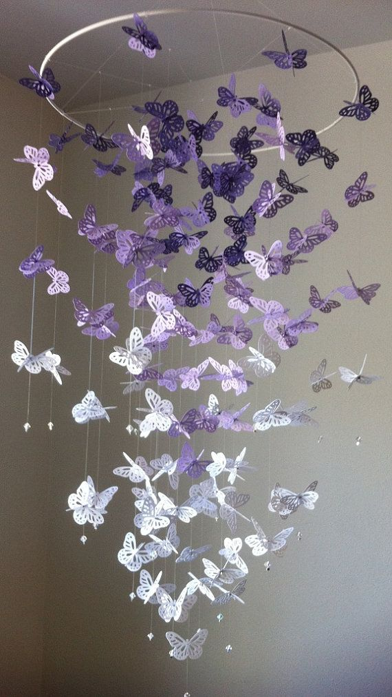 Butterfly Chandelier Mobile DIY Tutorial