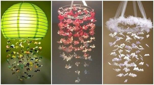 Butterfly chandelier mobile diy tutorials for Diy felt flower mobile