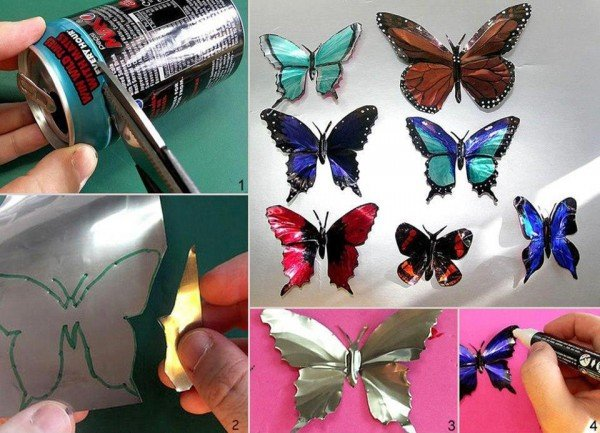 Creative Way To Recycle Cans - Drink Can Butterfly DIY Tutorial