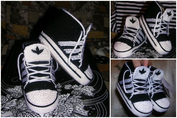 Crochet Adidas Sneakers Free Pattern & Video Tutorial