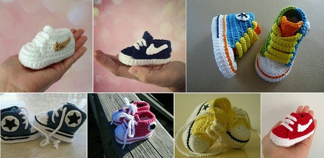 Crochet Baby Booties Nike Pattern : FabArtDIY - Crochet Nike Inspired Baby Booties - Fab Art DIY