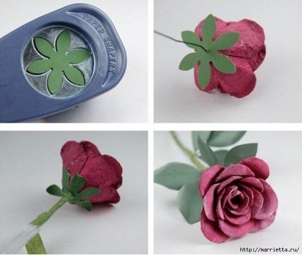 DIY Beautiful Roses from Upcycled Egg Carton Box