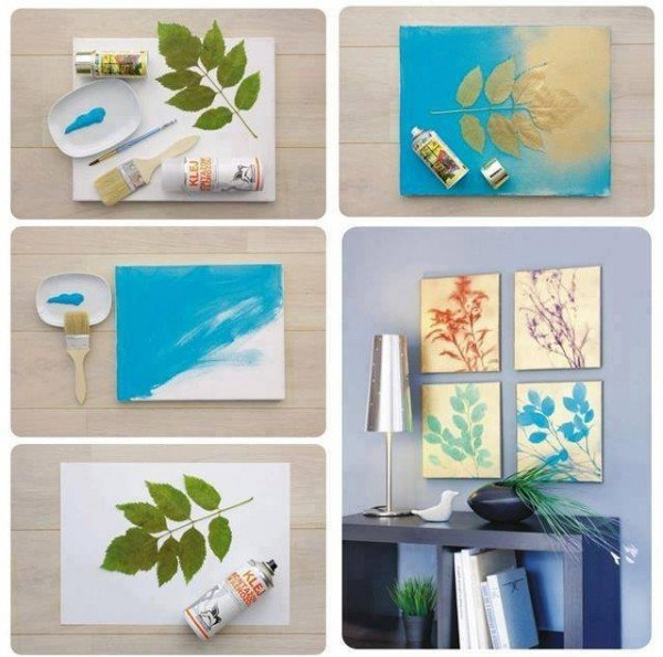 diy canvas wall art ideas and tutorials simple leaf botanical wall