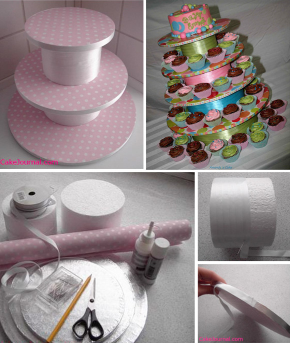 DIY Couture Cupcake Stand Base tutorial