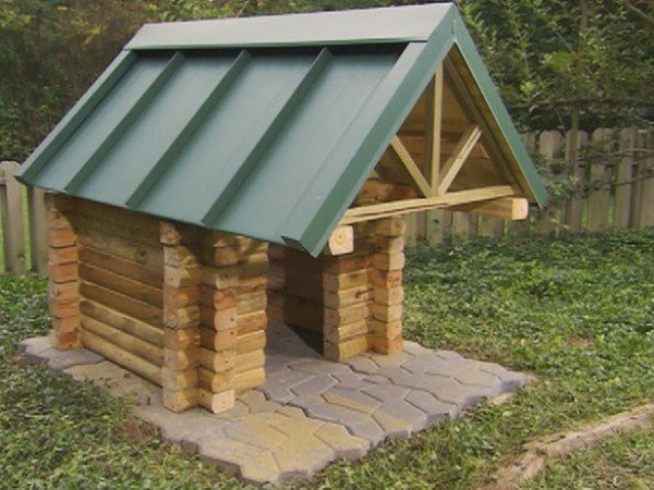 How to Build A Log Cabin Dog House