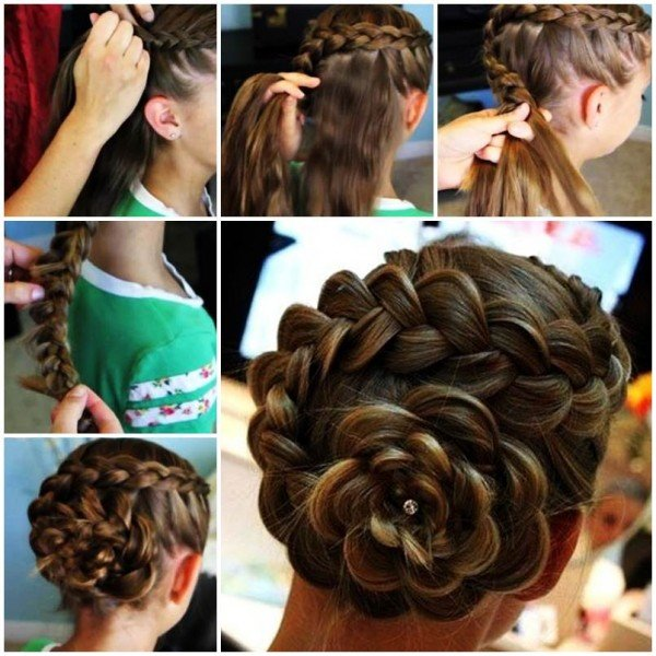 DIY Side Braid Rose Flower Hairstyle TutorialFab Art DIY