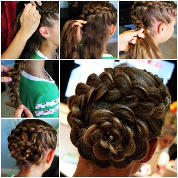 Pleasant Step By Side Braid Updo Braids Short Hairstyles Gunalazisus