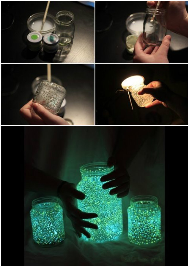 DIY Fairy Glow in the Dark Jars Tutorial