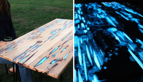 How to make glow in the dark table diy tutorial www for Glow in the dark table