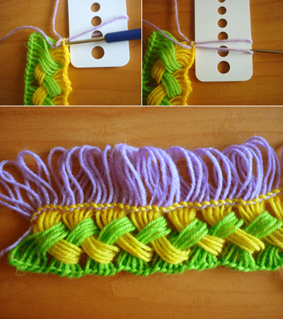 DIY Hook knit scarf free pattern and tutroial6