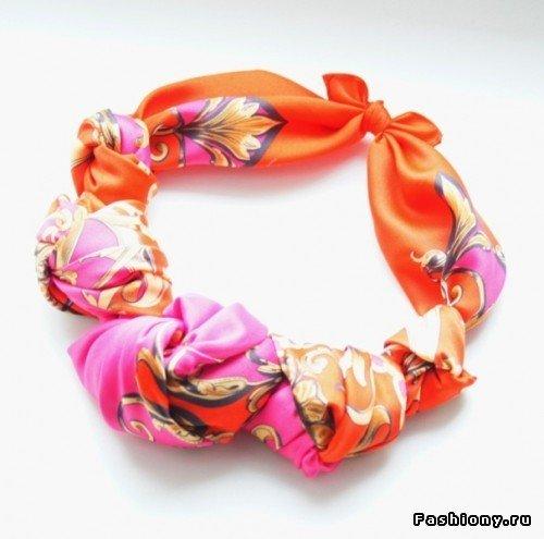 DIY Maxi Beach Dress from Silk Scarves - scarf