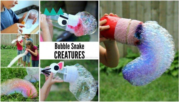 Rainbow Bubble Snake DIY Tutorial For Kids Outdoor Fun