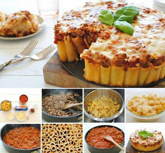 DIY Rigatoni Pasta Pie Recipe