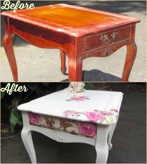 FabArtDIY Decoupage Old Furniture DIY Tutorial Video