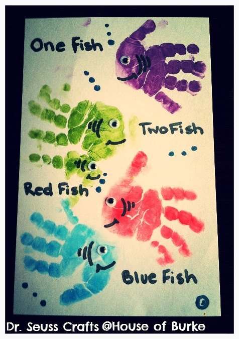 Hand & Footprint Art DIY Ideas and Projects - DIY Fish Handprint Tutorial - DIY Fish handprint tutorial