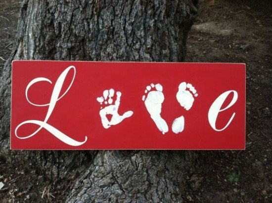 Hand & Footprint Art DIY Ideas and Projects6 - Love Hand and Footprint