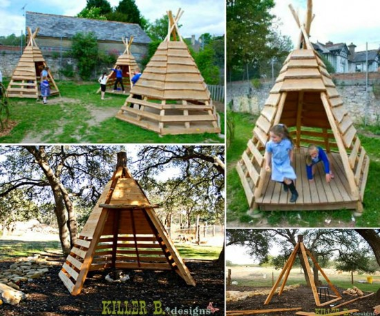 Outdoor Teepee Playhouse DIY Projects