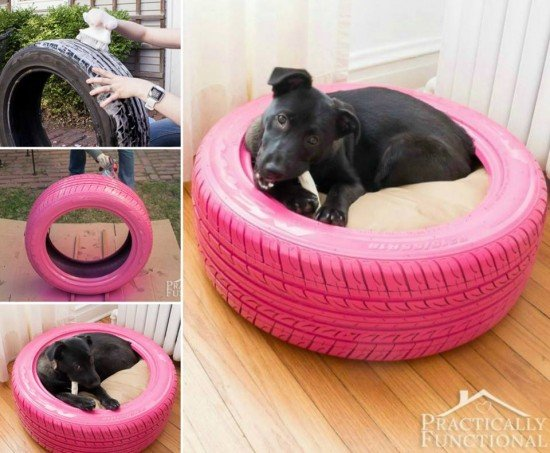Diy comfy pet bed with tire recycled tyre dog bed tutorials its an easy diy projects solutioingenieria Choice Image