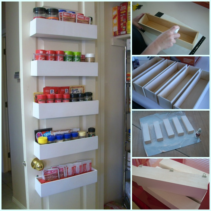 How to Make Door Pantry Spice Rack DIY Tutorial