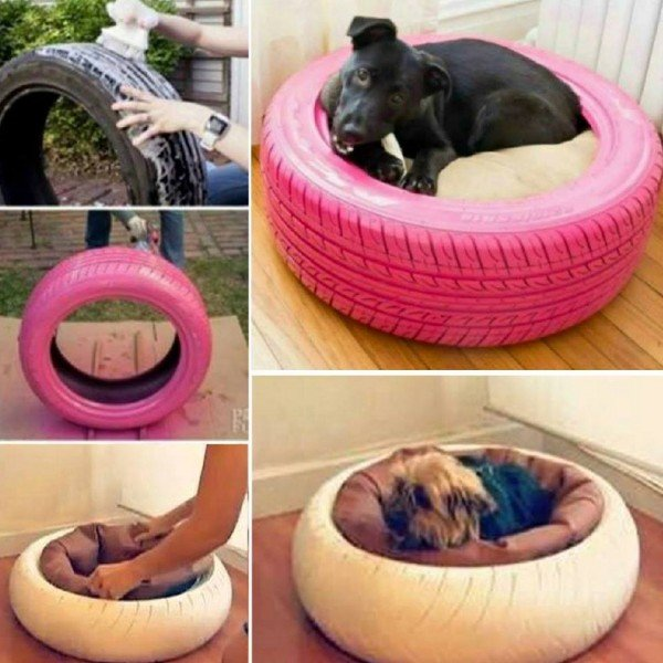 How to make tyre/tire pet bed tutorials