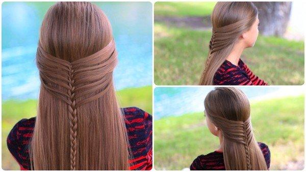 Mermaid Half Braid Hairstyle DIY Tutorials