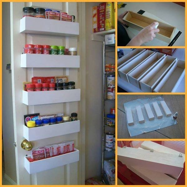How to DIY Over the Door Pantry Spice Racks