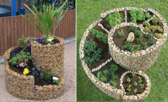 How to DIY Space saving Spiral Garden with video