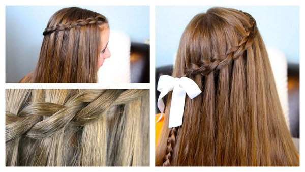 How to make a waterfall twist into mermaid braid — photo 1