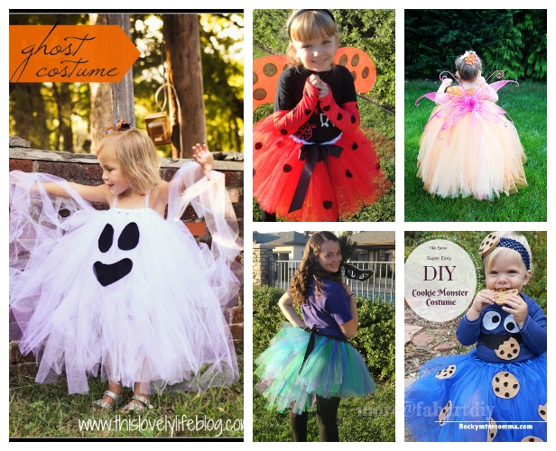 12 DIY No Sew Tutu Skirt Ideas & Tutorials Dress Up This Halloween