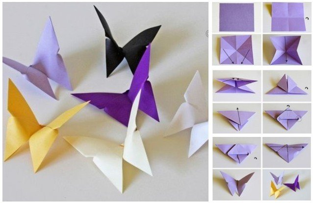 DIY Butterfly Chandelier Mobile Tutorial-DIY Origami Butterfly