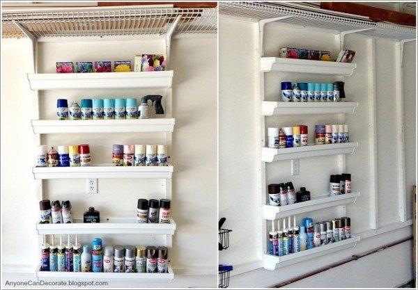 15 Fabulous DIY Rain Gutter Projects For Home and Garden - DIY Rain Gutter Garage Storage