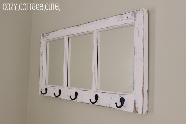 20 Fabulous Ways to Repurpose Old Windows -Turn Old Windows Into Coat Rack