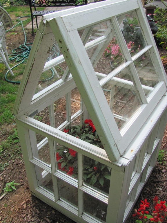 20 Fabulous Ways to Repurpose Old Windows -Turn Old Windows Into Flower House